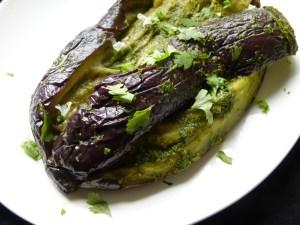 aubergine auf orientalische art