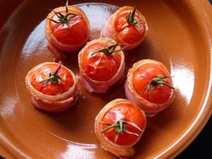 tomaten im speckmantel