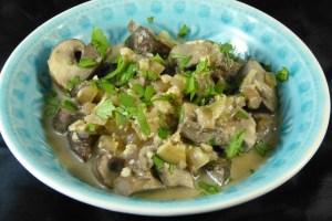 pilze in cashew