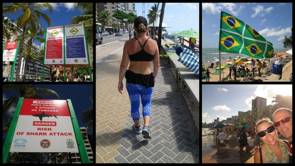 Recife, le boardwalk, les requins et les leggins qui flashent