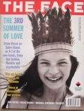 Kate Moss in Corinne Day photograph on cover of the Face in July 1990