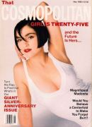 Madonna on the front cover of Cosmopolitan magazine in the US for May 1990
