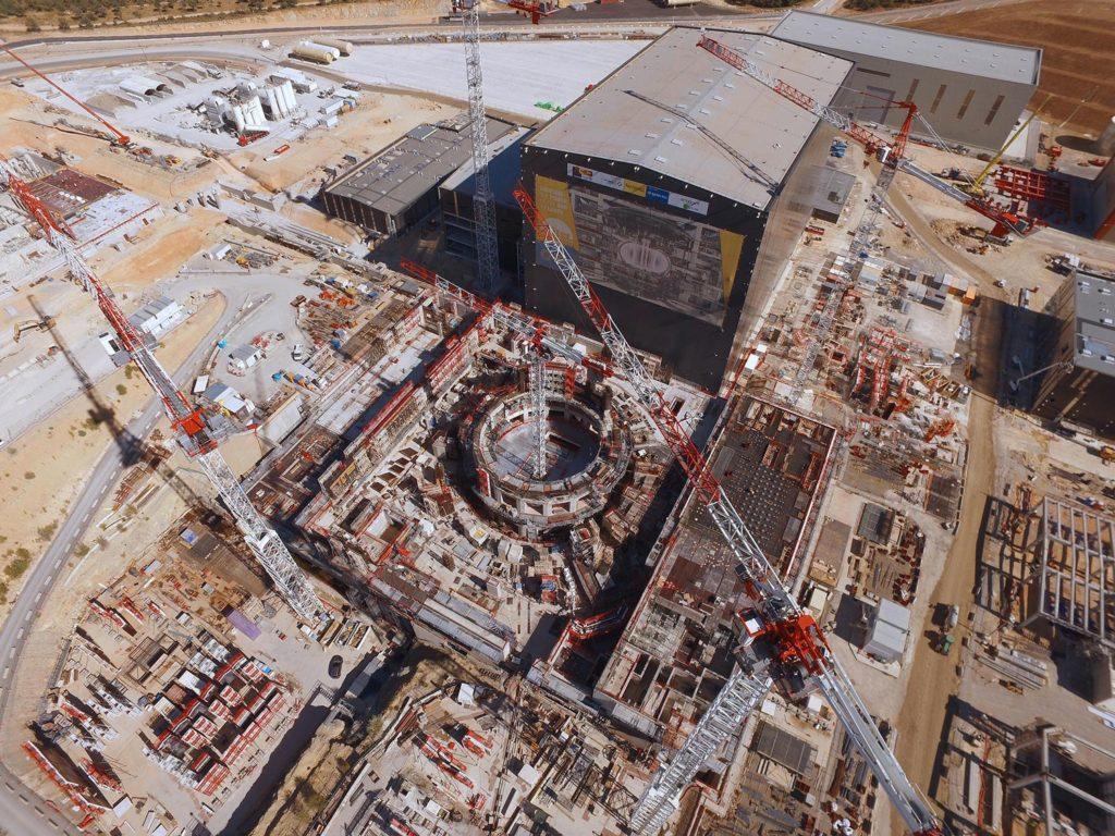 Az ITER 2017 augusztusában, forrás: iter.org