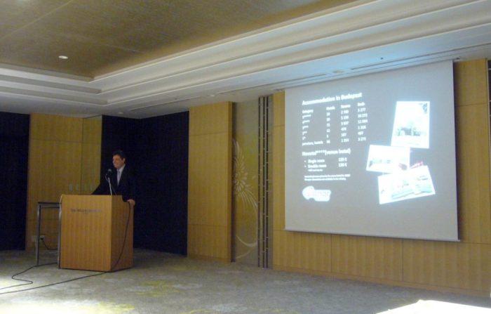 Dr Gábor Veres presenting ISFNT application