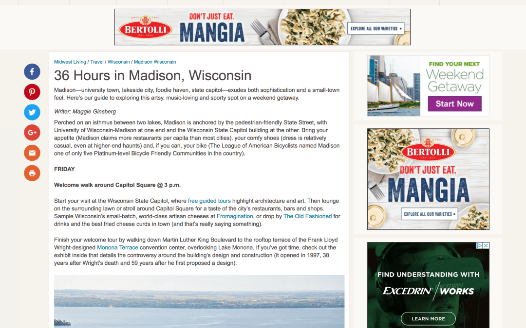 36 Hours in Madison, Wisconsin