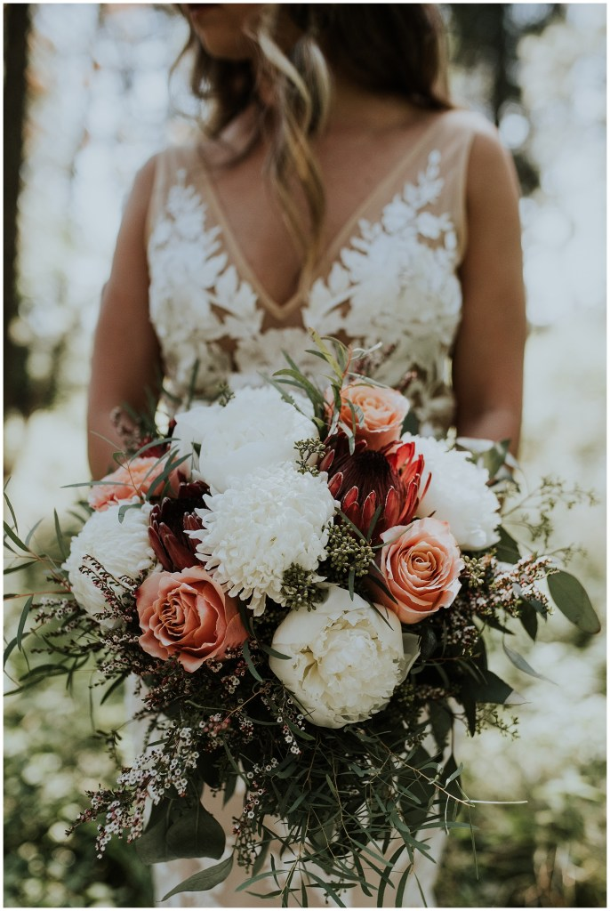 Summery Boho bouquet in Idaho