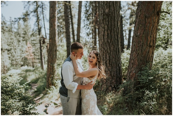 Boho PNW forest wedding in Idaho