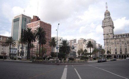 Plaza Independencia, in the centre of Montevideo.