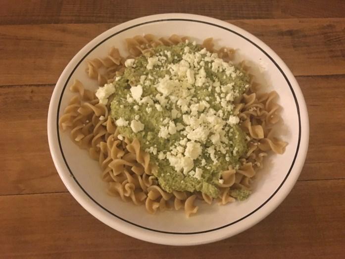 Completed broccoli feta pesto