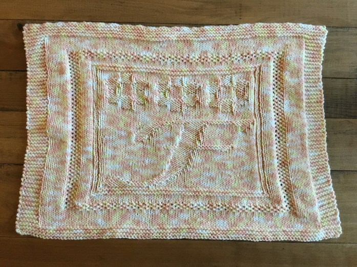 Finished monogram lovey