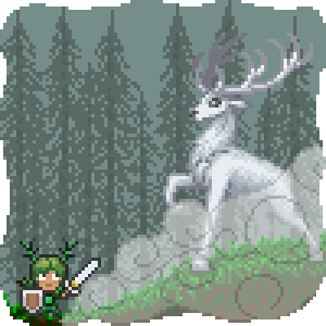 Boss - Battling the Ghost Stag