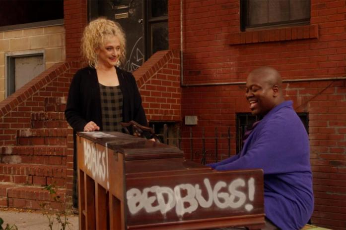 Titus plays the Bedbugs! piano!