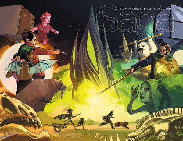 Saga Issue 25 Wraparound cover
