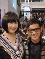 Maggie Loo with Alvin Loh, of New Look Studio renowned for their professionalism in studio photography for countless celebrities and being official photographer for celebrated events