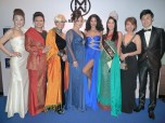 Maggie Loo with Dr Reiko Soo, Khadijah Ibrahim, Malaysia's Iconic Singer, Gillian Hung,President of Malaysia Official Designers' Association (MODA),Winnie Loo, Carven Ong, Thanuja Ananthan (MMW2009) and Nadia Heng (MMW 2010)