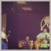 My parents backing me up in 2009. Dad playing lead guitar and mom playing the electric bass. That's how WE roll!