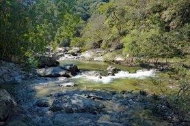Trail follows the river