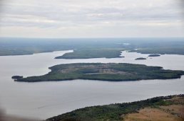 Balsam Lake from the air