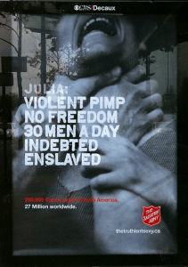 Salvation Army bus shelter ad