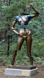 Overland Park Arboretum statue