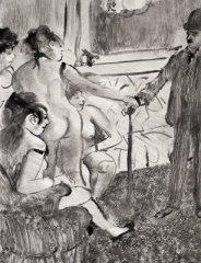 Illustration from Guy de Maupassant's La Maison Tellier by Edgar Degas (1881)