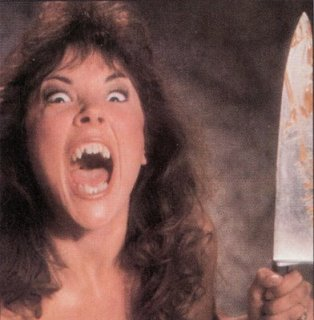 crazy woman with knife