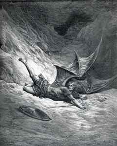 Paradise Lost VI (line 327) by Gustave Dore (1866)