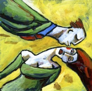 Woman Avoiding a Kiss from a Man by Alberto Ruggieri