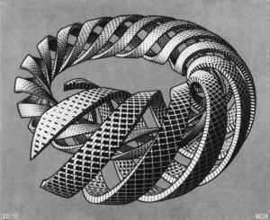 Spirals by MC Escher (1953)