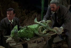 Roney & Quatermass with mummified Martian