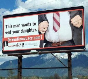 sleazy Shared Hope billboard
