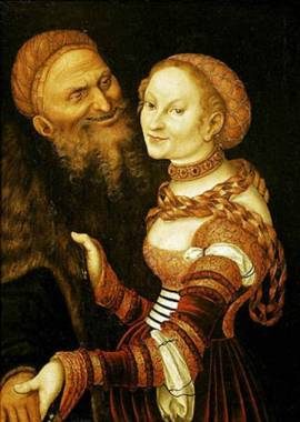 The Courtesan and the Old Man by Lucas Cranach the Elder (1530)