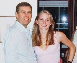 Virginia Roberts with Prince Andrew