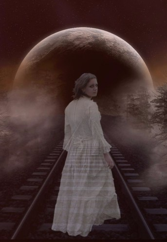 Ghost Woman on Train Track by epica3