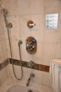 shower in Ciragan Palace Istanbul