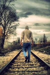 walking down the rails