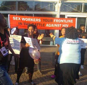 AIDS conference protest