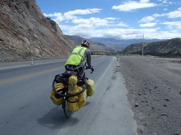 Bryan on the road in northern Ecuador