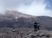 climbing up to the second refuge at 5000m