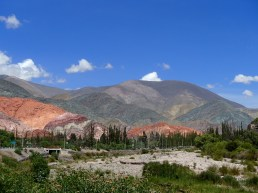 Cerro de Siete Colours, the mountain of seven colours, seen from outside town