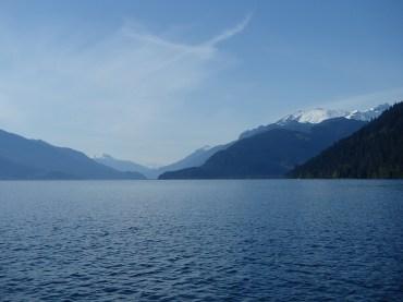 Beautiful Harrison Lake looking north