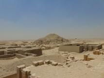 An Old Kingdom tomb ....outside looks like a mound of sand and rocks...