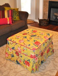 Pillows and Ottoman covers can easily be changed out for the season.