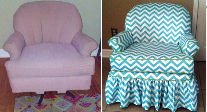 My $25 thrift store chair gets a whole new look.