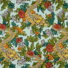 DwellStudio-Ming-Dragon-Fabric---Aquatint