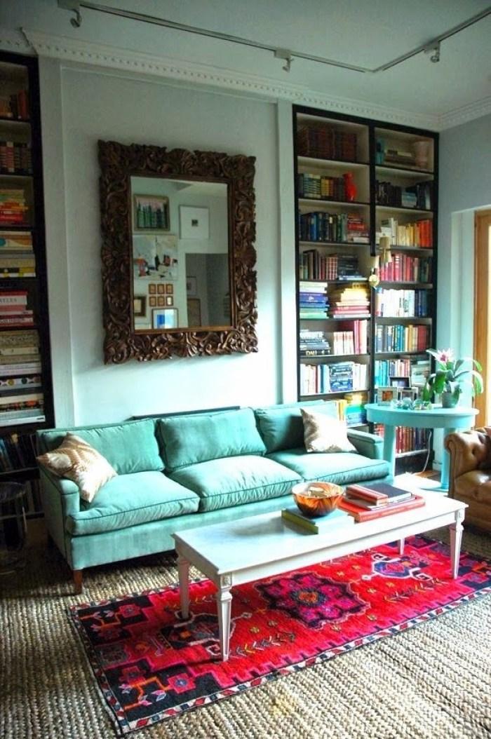 High Five - blue sofa