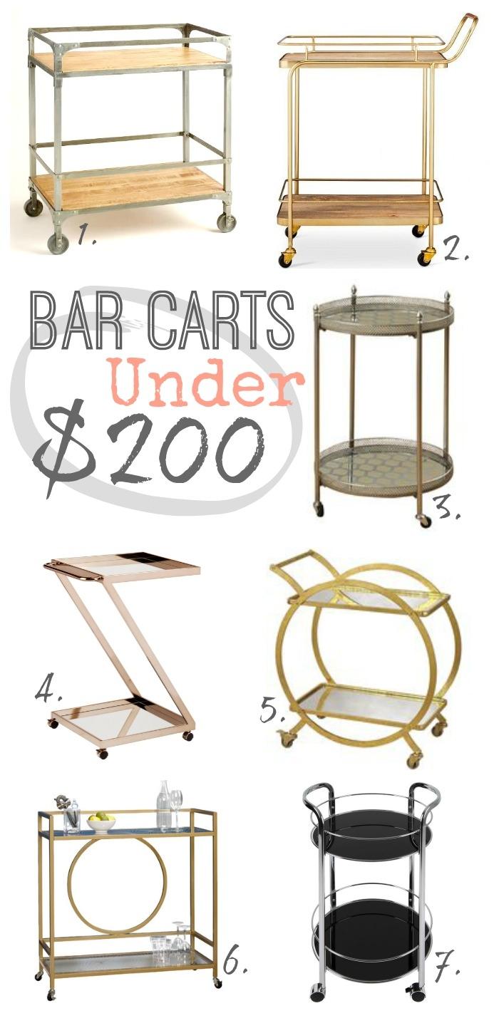 bar carts under $200