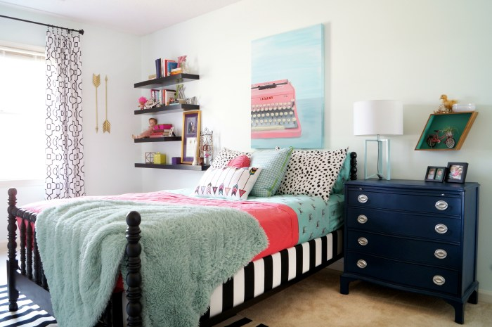 Girl's Room Fit for a Teen in Aqua and Coral
