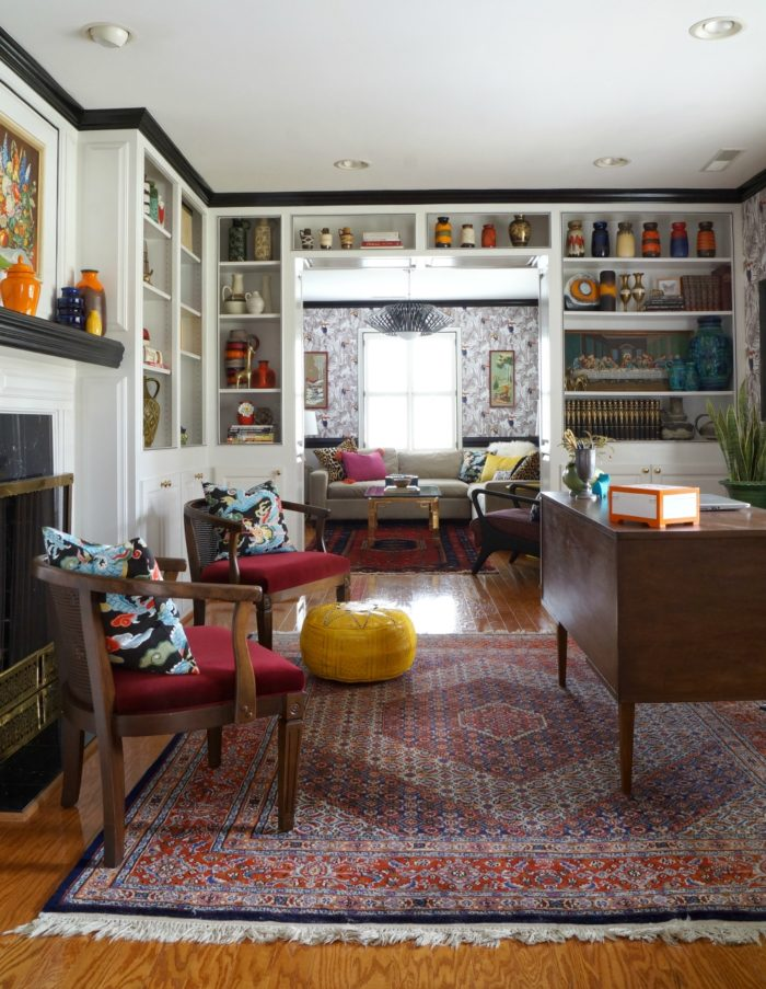 One Room Challenge Reveal – Living Room and Library
