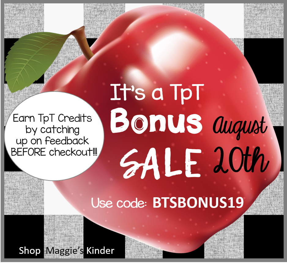 It's a BONUS Sale on TpT! $10 Gift Card Giveaway